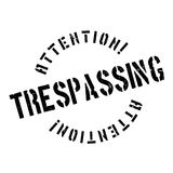 Trespassing rubber stamp Stock Photography