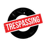 Trespassing rubber stamp Stock Image
