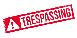 Trespassing rubber stamp Stock Images
