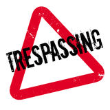 Trespassing rubber stamp Royalty Free Stock Photography