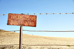 Trespassing sign Stock Images