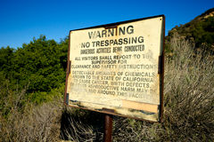 Trespassing Warning Sign for Danger Royalty Free Stock Photography