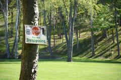 Trespassing Royalty Free Stock Photo