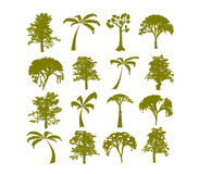 Tress Silhouette Vector Stock Photo