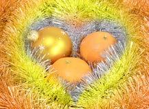 Tresse de mandarines de boule photographie stock libre de droits