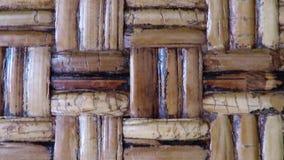 Tresse en bambou d'une chaise antique banque de vidéos
