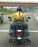 Tresse et moto Photographie stock libre de droits