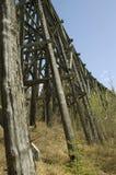 Tressel ferroviario abandonado imagen de archivo