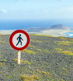 Tresspassing forbidden because of dangerous cliffs Stock Images