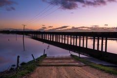 Trestle Bridge Dawn Royalty Free Stock Photography