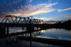 Trestle Bridge overRiver Royalty Free Stock Photo