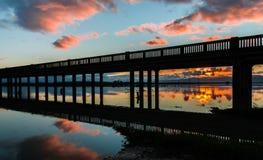 Trestle Bridge Sunrise Royalty Free Stock Image