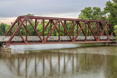 Trestle on Katy Trail in Missouri. Near Mokane - 237 mile bike trail stretching across most of the state of Missouri converted from abandoned railroad Royalty Free Stock Photography