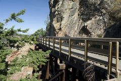 Trestle in Myra Canyon Royalty Free Stock Photos