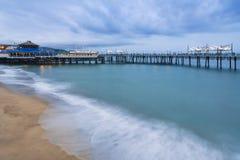 Trestle over the sea. A trestle over the sea at Redondo Beach, Los Angeles, California, USA Stock Photo