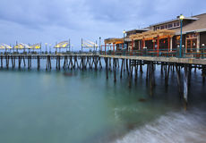 Trestle over the sea. A trestle over the sea at Redondo Beach, Los Angeles, California, USA Royalty Free Stock Photo
