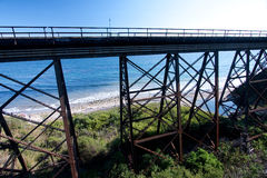 Trestle by the Pacific Ocean Royalty Free Stock Photography