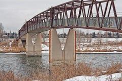 Trestle Pedestrian Bridge in the Winter Royalty Free Stock Photos