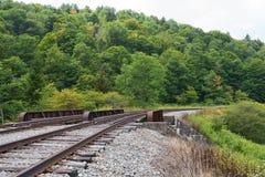 Trestle. Railroad trestle in the hills, Spruce Knob-Seneca Rocks National Recreation Area, Cass, West Virginia Stock Photo