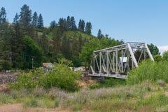Trestle. Railroad trestle over the Palouse River, Colfax, Washington royalty free stock photo