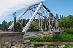Trestle. Railroad trestle over the Palouse River, Colfax, Washington stock images