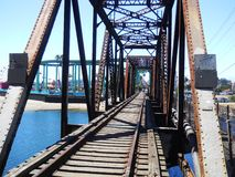 Trestle santa cruz beach boardwalk blue Stock Photography