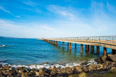Trestle in sea Royalty Free Stock Photos
