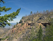 Trestles in Myra Canyon, British Columbia, Canada Stock Image