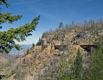 Trestles in Myra Canyon, British Columbia, Canada Stock Image