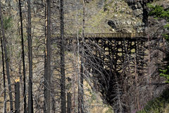 Trestles in Myra Canyon, British Columbia, Canada Stock Photography