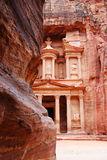 The Tresury from the Siq, Petra, Jordan Royalty Free Stock Photo