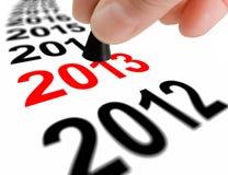 Treten Sie in das nächste Jahr 2013 Lizenzfreies Stockfoto