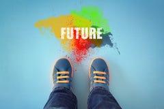 Treten Sie in die Zukunft Stockbild