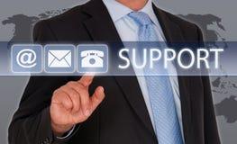 Treten Sie mit uns für Unterstützung in Verbindung Stockfoto