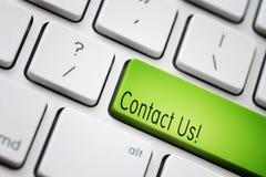Treten Sie mit uns in Verbindung Lizenzfreies Stockbild