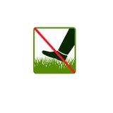 Treten Sie nicht auf Gras Lizenzfreie Stockfotos