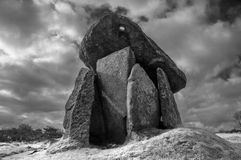 Trethevy Quoit. Ancient burial chamber in  Cornwall Stock Photos