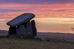 Trethevy Quoit, ancient monument, Cornwall, uk. Trethevy Quoit ancient Neolithic tomb Stock Photos