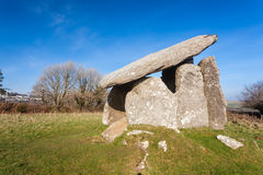 Trethevy Quoit Cornwall England. Trethevy Quoit a well preserved Neolithic dolmen burial chamber located near St Cleer and Darite in Cornwall, England UK Europe Royalty Free Stock Images