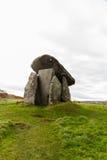 Trethevy Quoit megalityczny grobowiec w Cornwall fotografia stock