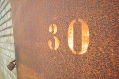Trettio 30 Arkivbild