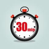 Trettio minuter stoppur Royaltyfria Foton