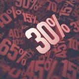 Trettio procent rabatt Arkivfoton