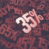 Trettiofem procentrabatt Arkivbild