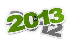 tretton 2013 tusen två Fotografering för Bildbyråer