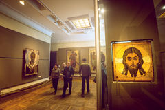 Tretyakov gallery in Moscow. Interior. Royalty Free Stock Images
