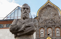 Tretyakov monument near State Tretyakov's Gallery Stock Photos