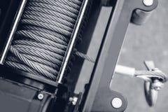 Treuil électrique en acier de corde pour sauver la machine photographie stock libre de droits