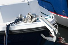 Treuil d'ancre de yacht Photo stock