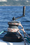 Treuil de bateau à voiles photo stock